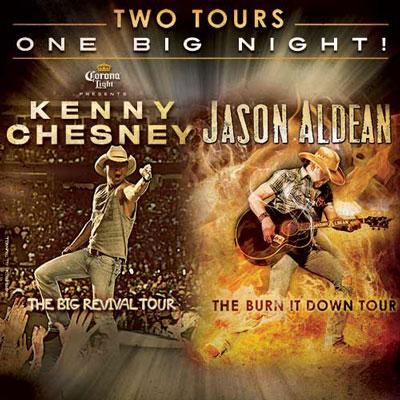 Kenny Chesney and Jason Aldean Tour Dates