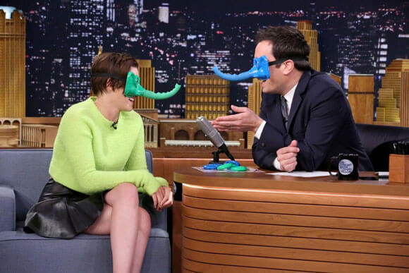 Kristen Stewart and Jimmy Fallon Play Ring Around the Nosey