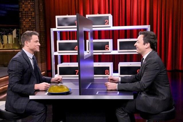 Channing Tatum and Jimmy Fallon play box of lies