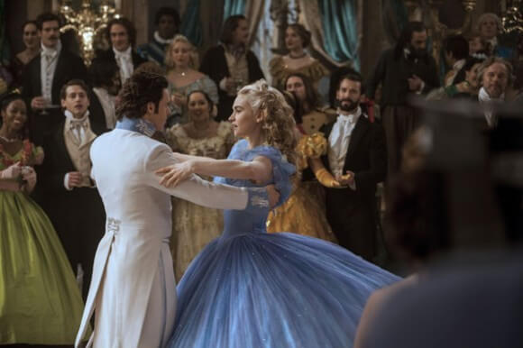 Cinderella Photo with Lily James and Richard Madden