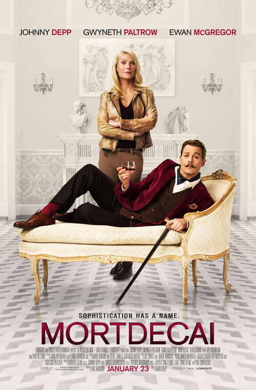 Mortdecai new trailer and poster with Johnny Depp