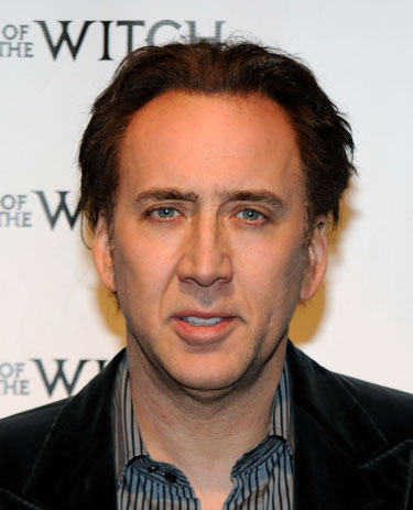 "Nicolas Cage attends Relativity Media's premiere of ""Season of the Witch"" (Photo by Larry Busacca / Getty Images for Relativity Media)"