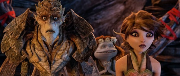 Bog King (voice of Alan Cumming), Griselda (voice of Maya Rudolph) and Marianne (voice of Evan Rachel Wood) are part of acolorful cast of goblins, elves, fairies and imps in 'Strange Magic.' (Photo Courtesy of LucasFilm)