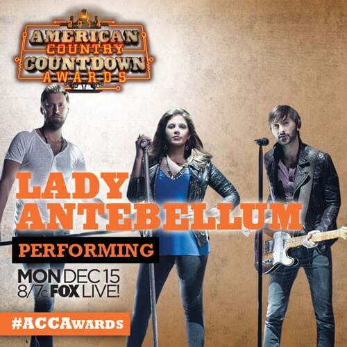 Lady Antebellum and Hank Williams Jr to Perform on American Country Countdown Awards