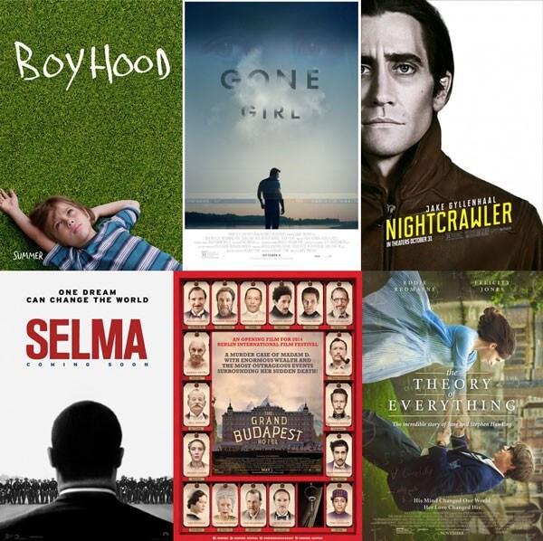 San Diego Film Critics Society 2014 Nominees