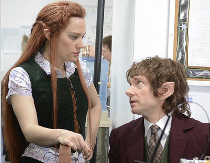Martin Freeman's Bilbo Baggins Goes to Work at The Office