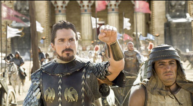 Exodus Gods and Kings with Christian Bale and Joel Edgerton