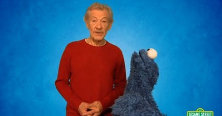 Ian McKellen and Cookie Monster Learn About Resisting Temptations
