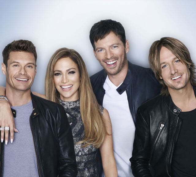 Keith Urban, Jennifer Lopez, and Harry Connick Jr American Idol XIV Interview