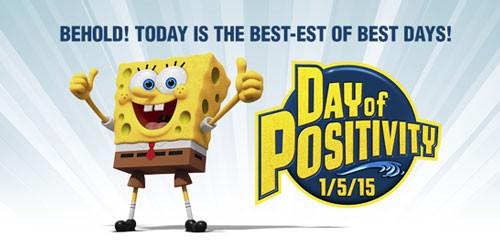 SpongeBob Declares Day of Positivity
