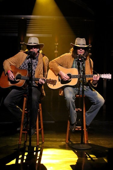 Neil Young and Jimmy Fallon Perform Old Man