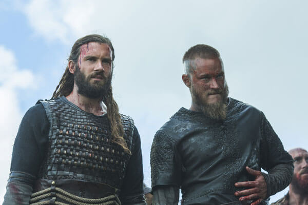 Clive Standen and Travis Fimmel in Vikings