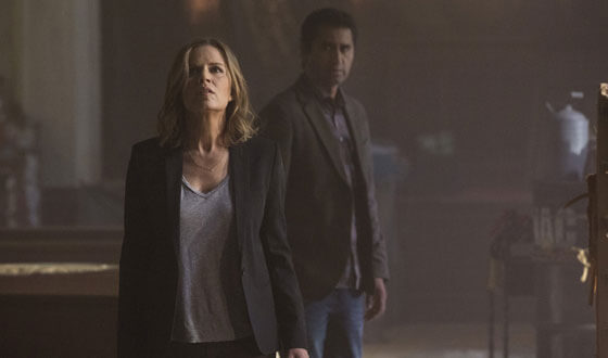 Fear the Walking Dead Kim Dickens and Cliff Curtis Photo