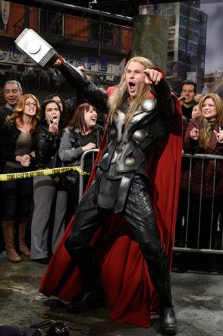 Chris Hemsworth in Thor Costume on SNL