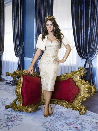 Elizabeth Hurley stars in The Royals