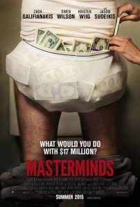 New 'Masterminds' Teaser Poster for the Action Comedy