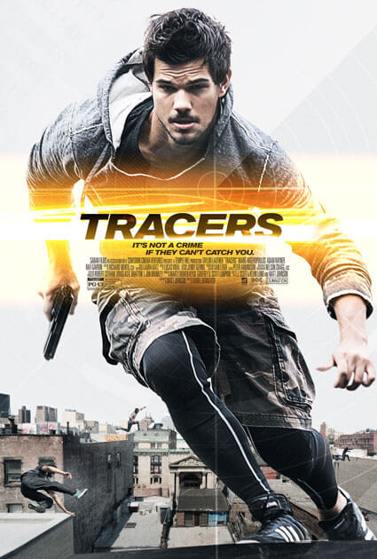 Tracers Movie Clip and Poster with Taylor Lautner