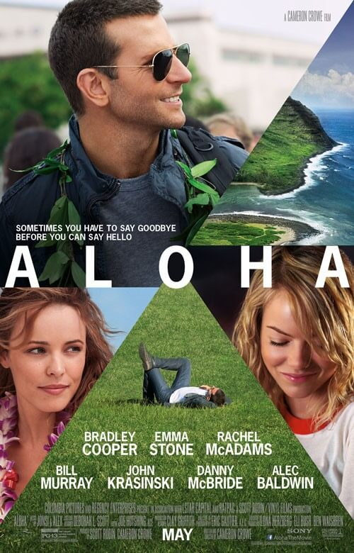 Aloha Poster with Bradley Cooper, Emma Stone, and Rachel McAdams