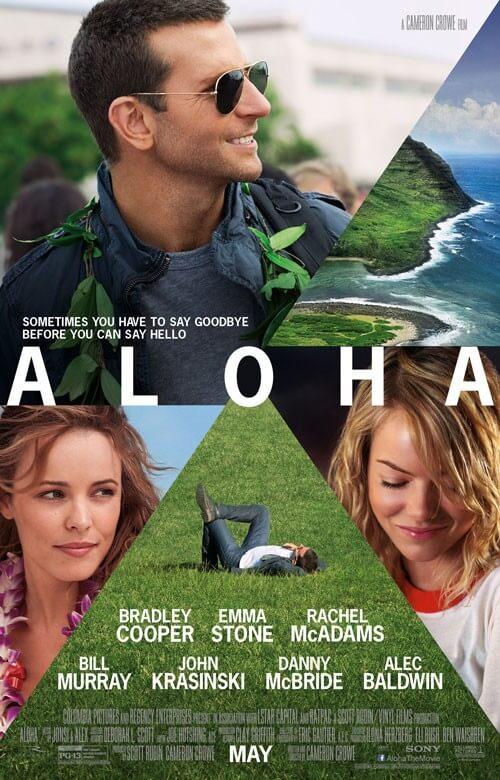 Aloha Poster with Bradley Cooper, Emma Stone, and Rachel McAdams