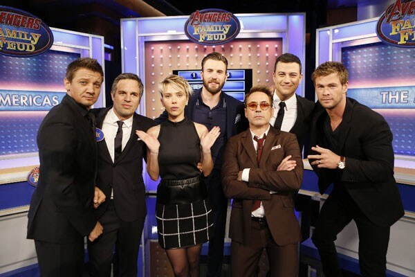 Avengers Cast Plays Family Feud