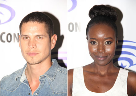 JD Pardo and Anna Diop The Messengers Interview