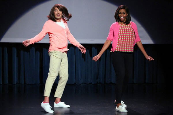Michelle Obama and Jimmy Fallon Do Evolution of Mom Dancing Part 2