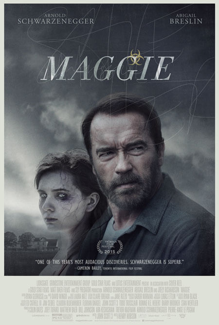Maggie Poster with Abigail Breslin and Arnold Schwarzenegger
