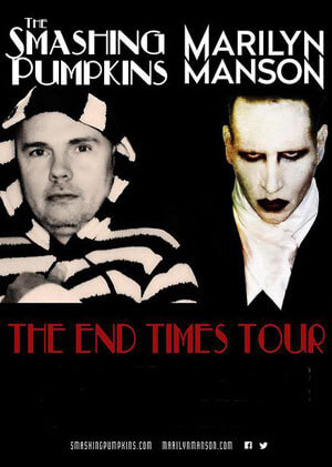 Smashing Pumpkins and Marilyn Manson End Times Tour Dates