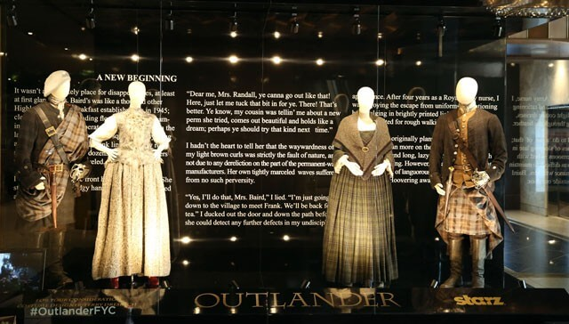 Outlander Costume Display