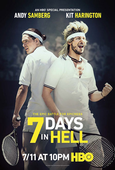 7 Days in Hell Poster with Kit Harington and Andy Samberg