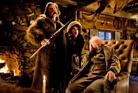 Hateful Eight Kurt Russell, Jennifer Jason Leigh, Bruce Dern Scene