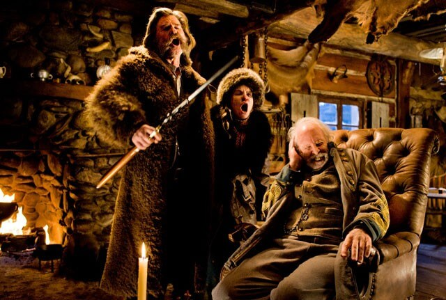 Hateful Eight Kurt Russell, Jennifer Jason Leigh, Bruce Dern Scene