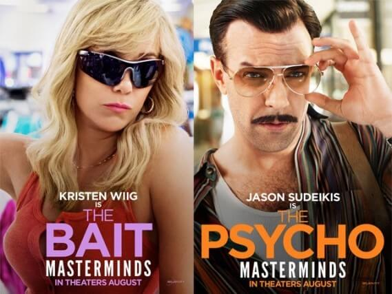 Masterminds Movie with Jason Sudeikis and Kristen Wiig