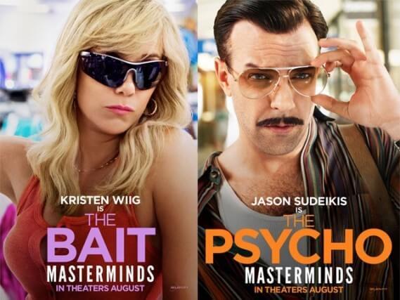 Masterminds Movie with Jason Sudeikis and Kristen Wiig