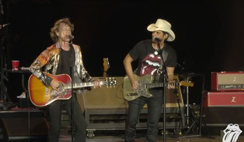 Brad Paisley and The Rolling Stones Perform Dead Flowers