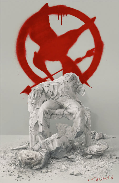 The Hunger Games Mockingjay Part 2 Down with the Capitol Poster
