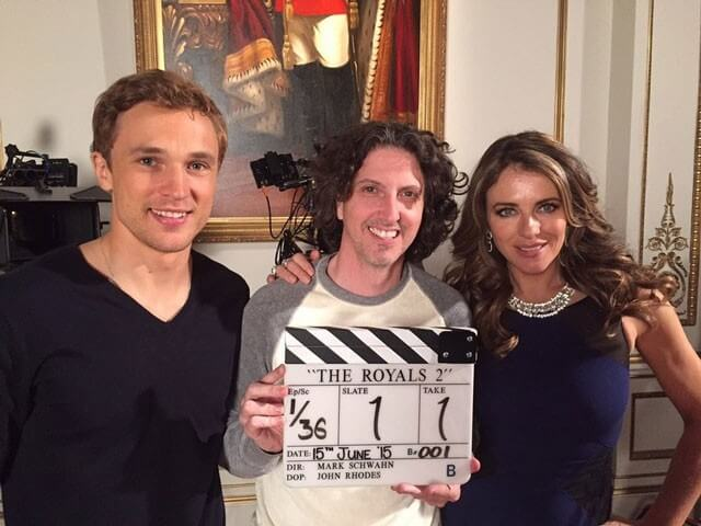 Royals Season 2 William Moseley Elizabeth Hurtley Mark Schwahn Photo