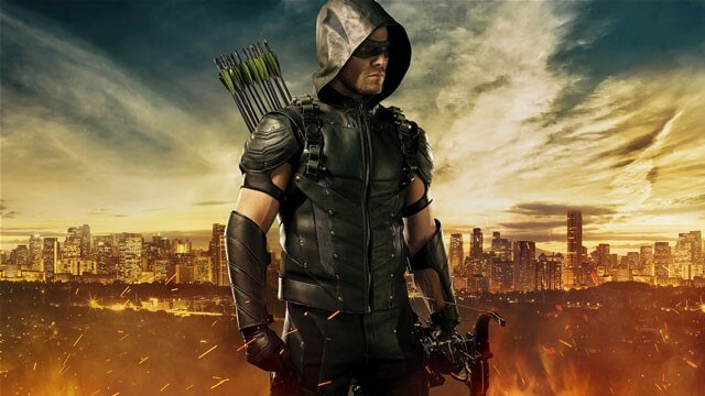 Stephen Amell in the New Arrow Suit