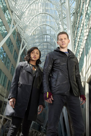 Minority Report Stark Sands and Meagan Good Interview