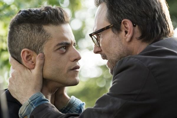 Rami Malek and Christian Slater in Mr Robot