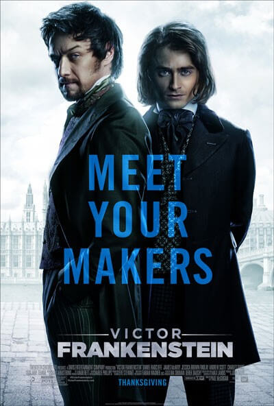 Victor Frankenstein Poster and Trailer with James McAvoy and Daniel Radcliffe