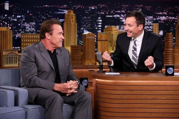 Arnold Schwarzenegger and Jimmy Fallon Photo