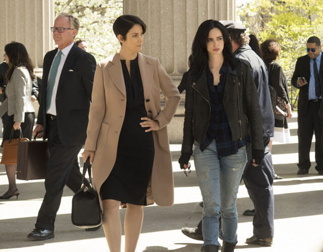 Carrie-Anne Moss, Krysten Ritter Jessica Jones Photo