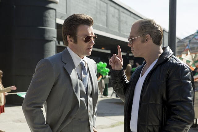 Joel Edgerton and Johnny Depp Photo from 'Black Mass'