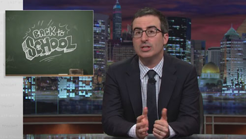John Oliver Offers Back to School Advice