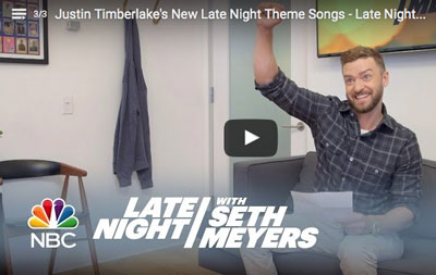 Justin Timberlake on Late Night Photo