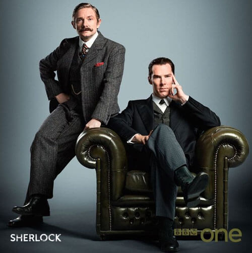 Sherlock's Martin Freeman and Benedict Cumberbatch Photo