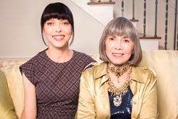 Juliet Landau and Anne Rice