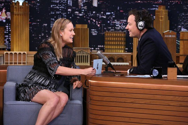 Brie Larson and Jimmy Fallon