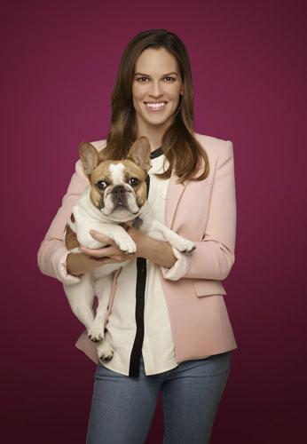 Hilary Swank and Dog